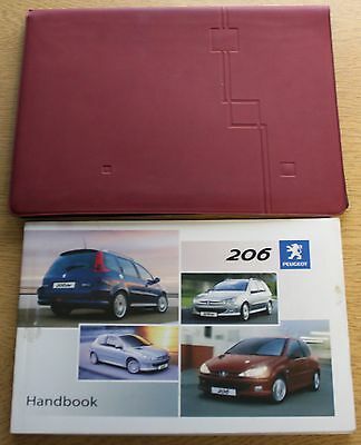 Peugeot 206 Owners Manual Handbook Wallet Wallet 2003-2009 Pack 7208