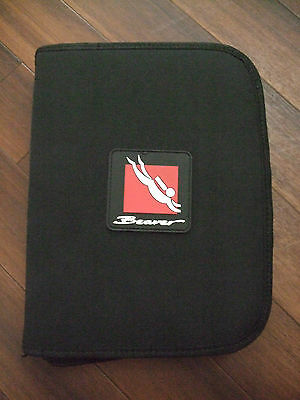 Brand New Beaver Dive Folder Log Book with inserts Scuba Diving
