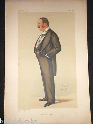 Sir Reginald The Lord Mayor Of London: Original 1886 Victorian Vanity Fair Print