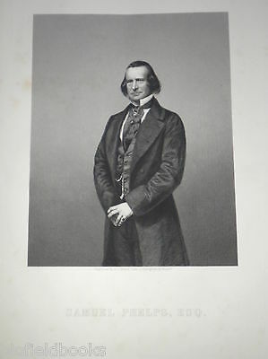 Samuel Phelps: c1860 Original Antiquarian Portrait Engraving, Victorian Theatre