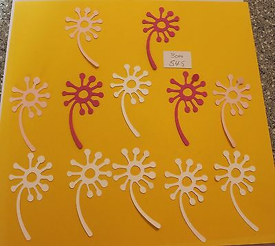 12 flowers 3.5 INCHES  DIECUTS  card stock 3000-545