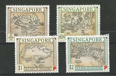 Singapore 1996 Old Maps Sg,828-831U/mm Nh Lot 1623A