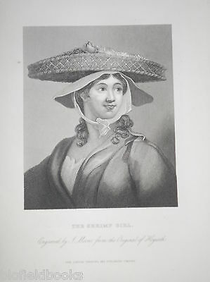 The Shrimp Girl by William Hogarth c1850 Original Antiquarian Portrait Engraving