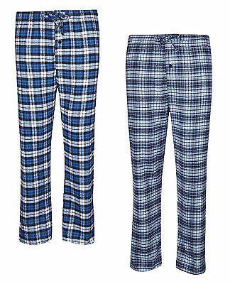 Mens Pyjama Bottoms Soft Warm 100% Cotton Flannel Lounge Pants M-Xxl Bnwt