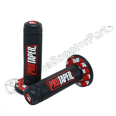 """Hand Grips Throttle Handle Grip 7/8"""" ATV Dirt Pit Bike Scooter Go Quad Red"""