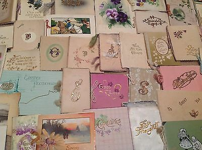 Antique Large Lot Of Christmas Cards- 1901-1912