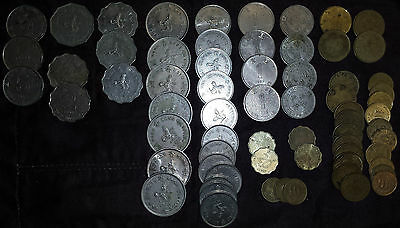 $60 HONG KONG Old Cash 67 Coins Collect/Spending Money $5 $2 $1 5 10 20 50 Cents