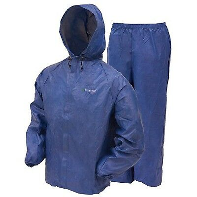Frogg Toggs UL12104-12LG Ultra Lite Rain Suit Blue Large