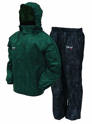 Frogg Toggs All Sport Rain Suit Green/Black Large
