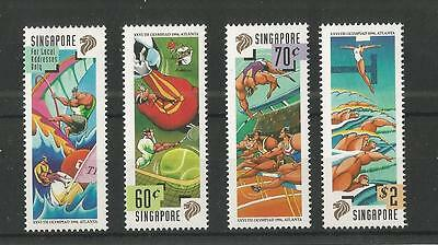 Singapore 1996 Olympic Games Sg,845-848 U/mm Nh Lot 1628A
