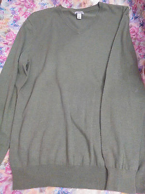 Old Navy Men's 100% cotton Size L Large Green V-neck sweater top