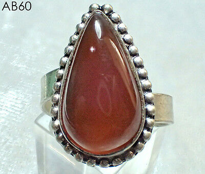 Wonderful Red Jasper Stone Silver Mix Ring Us Size 10#060