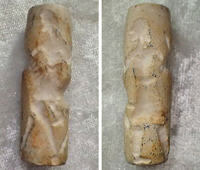 Lovely Old Carved Horse Riding Intaglio Carving Stone Bead#020