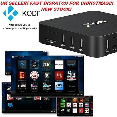 2016 M9X 4K ANDROID TV Box Amlogic Android 5.1 2GB+16G- UK Seller!!