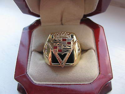 "Superb NEW! Gold Mens ""Cadillac"" Crest Ring"