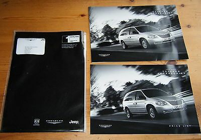 Chrysler Voyager Accessories Brochure & Price List 2006