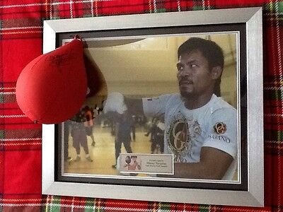Manny Pacquiao Hand Signed Framed Boxing Speedball
