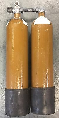 7lt 300 Bar Twin Set Of Scuba Cylinders In Test