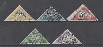 ESTONIA 1924 AIR SET IMPERFORATE USED  SG51A/55A  cat £65