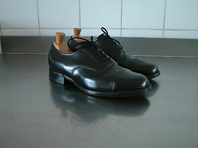1940's STYLE SHOES..OXFORD TOE CAPS..MADE IN ENGLAND..UK 8..STEEL QUARTER TIPPED