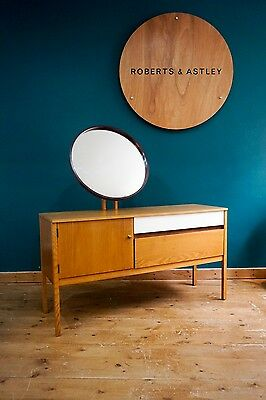 Rare G Plan E-Gomme Dressing Table / Sideboard & Mirror