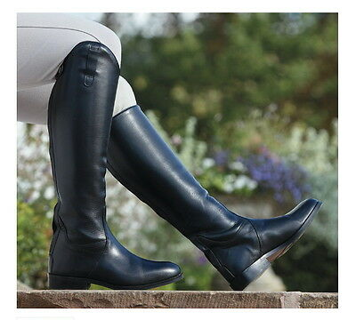 Shires Norfolk Long Leather Riding Boots 39 Short XXXL Calf