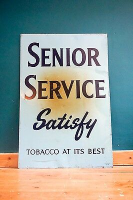 Senior Service Tin Tobacco Sign Signage Collectable Advertising Breweriana