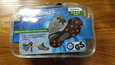 Set of Shoe Spikes for Snow & Ice -Size 3.5-6.5