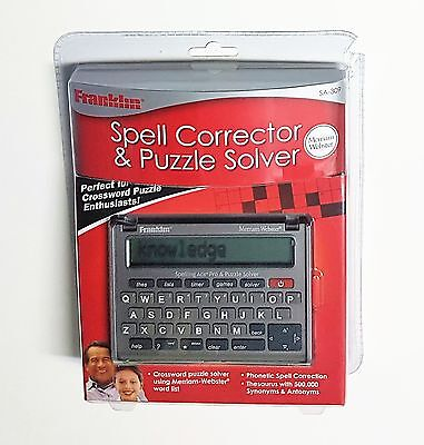 Franklin SA-309 Merriam Webster Spell Corrector & Puzzle Solver - New