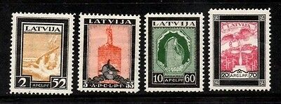 Latvia 1933 Air - Wounded Latvian Airmen Fund  SG.231/234  Mint Hinged Set of 4