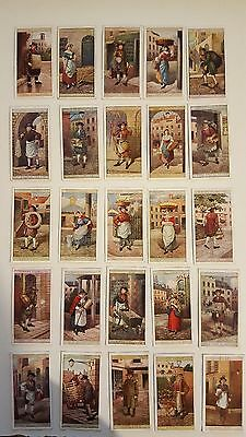 Players cigarette cards Cries Of London 1915 2nd series of 25