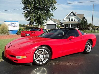 2002 Chevrolet Corvette  2002 CHEVROLET CORVETTE COUPE-RED-N-READY-CHROMES-XTRA SHARP!! WOW!!