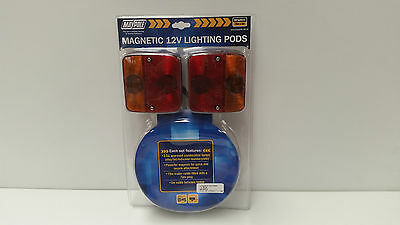Maypole 12v Magnetic Lighting Pod With 10m Trailer Cable