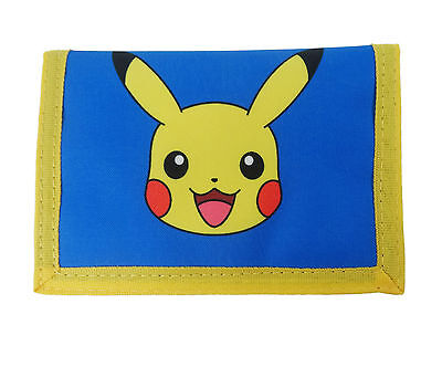 Pokemon | Pikachu | Blue Tri-Fold Wallet | Purse with Coin Zip Compartment