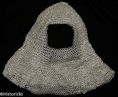 Chain Mail Hood - Aluminium ( chainmail coif ) re-enactment / larp / theatre