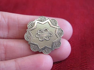 Circa 1880's Victorian 8K Or Gold Filled Pin/ Brooch Or Pendant  -#7