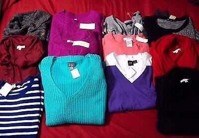 Wholesale 4 Retail~Resale~Lot of 12 Womens Sweaters~Women's & Plus Sizes~NWT~New