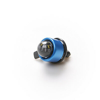 Blue Handlebar Ring Bell Alarm Horn with Compass Ball for Bike Bicycle Safety