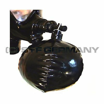 █ Deluxe Gas Mask Special Rebreathing Bag Set Xxxl 6 Litre For Latex Fetish Hood
