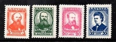 Latvia 1936 Lettish Intelllectuals  SG.253/256  Mint Hinged Set of 4