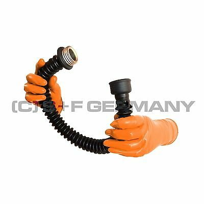 █ Deluxe 50Cm 20 Inch Gas Mask Latex Rubber Tube Hose For Hood Fetish Cosplay █