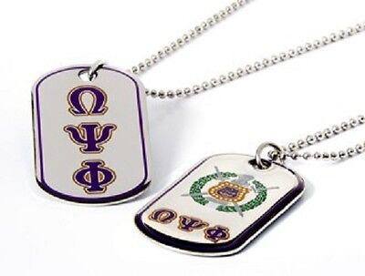 Omega Psi Phi Fraternity Reversible Dog Tag-New!