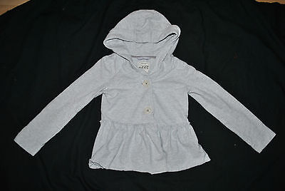 Next Girls Grey Cotton Tweed Jacket Sweat 8 Years Eu 128Cm