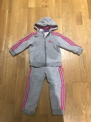Girls Adidas Tracksuit 3-4 Years