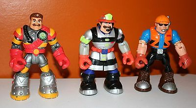 Rescue Heroes Action Figures Lot Of 3
