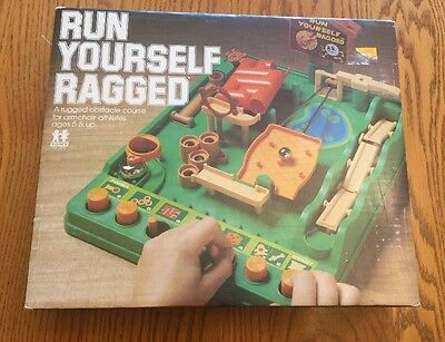 Tomy Run Yourself Ragged Game Vintage 1979 Instructions Timer 2 Balls! Working