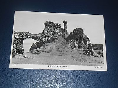 Real Photo Postcard The Old Castle Dunbar Postmarked 1953