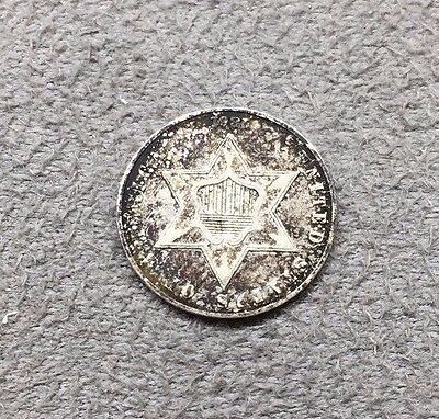 1861 Silver Three Cent Piece Coin