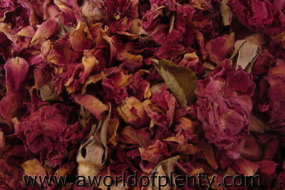 Roses - Dried  Rose Buds & Petals - Soap and Potpourri Ingredients - Sachets
