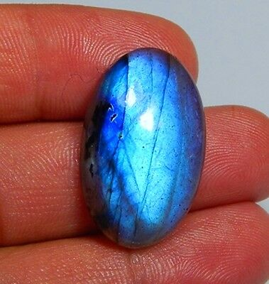 25 Ct Top Quality 100% Natural Blue Fire Labradorite Oval Cabochon Gemstone H144